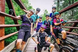 Women Mountain Biking