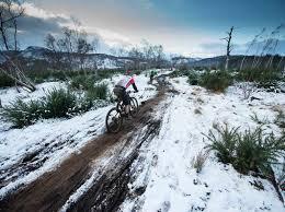winter mountain biking